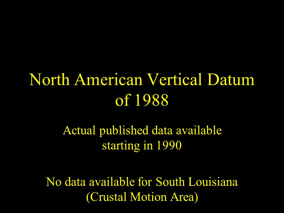 North American Vertical Datum of 1988