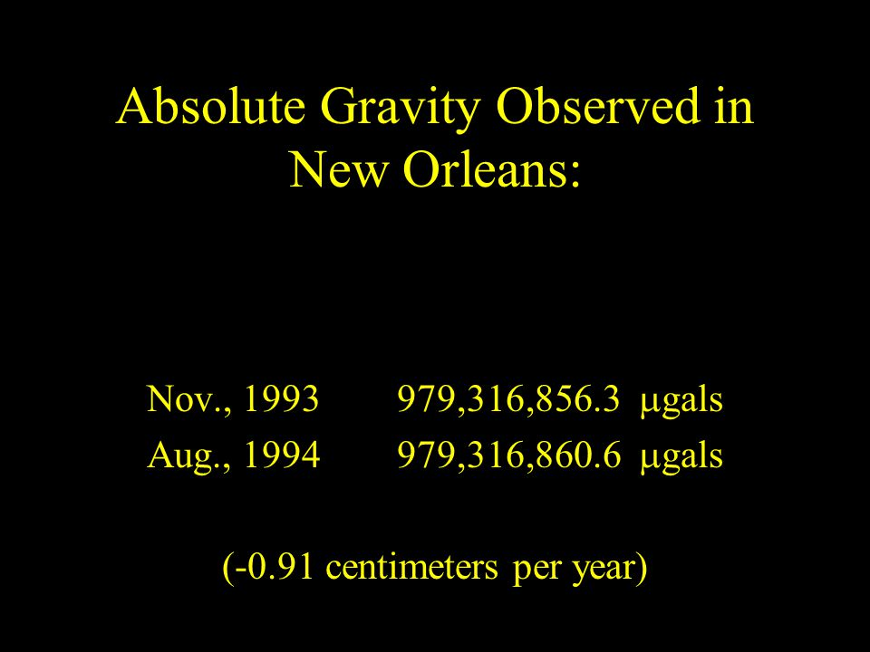 Absolute Gravity Observed in New Orleans: