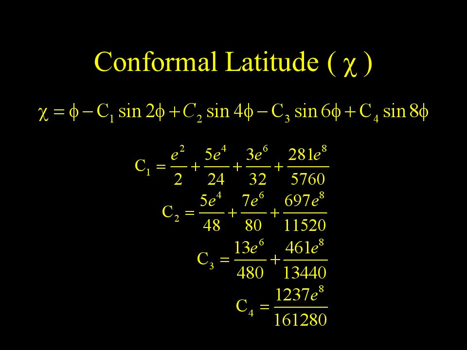 Conformal Latitude ( χ )