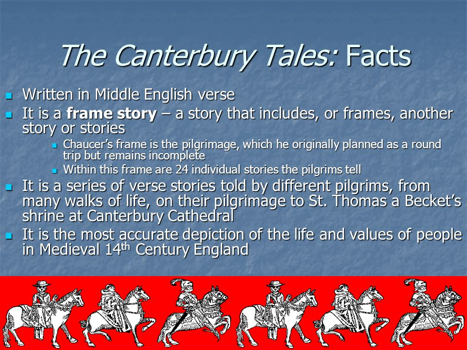 The Canterbury Tales: Facts