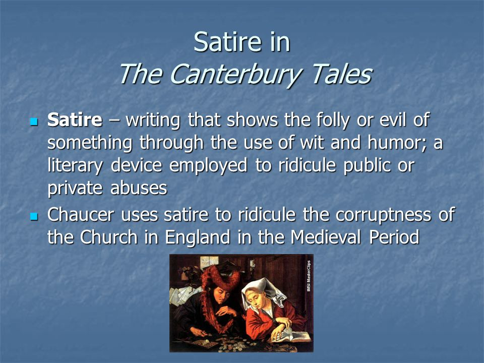 Satire in The Canterbury Tales