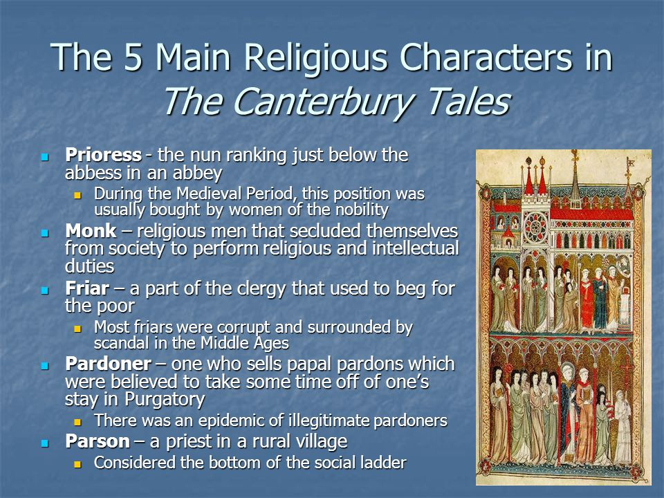 The 5 Main Religious Characters in The Canterbury Tales