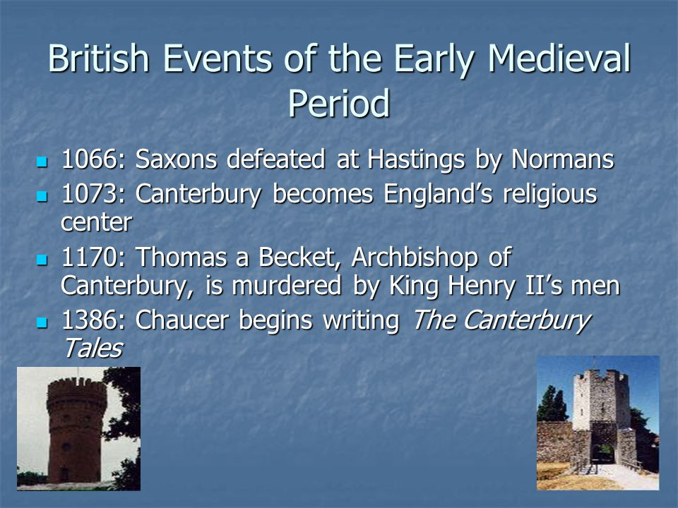 British Events of the Early Medieval Period