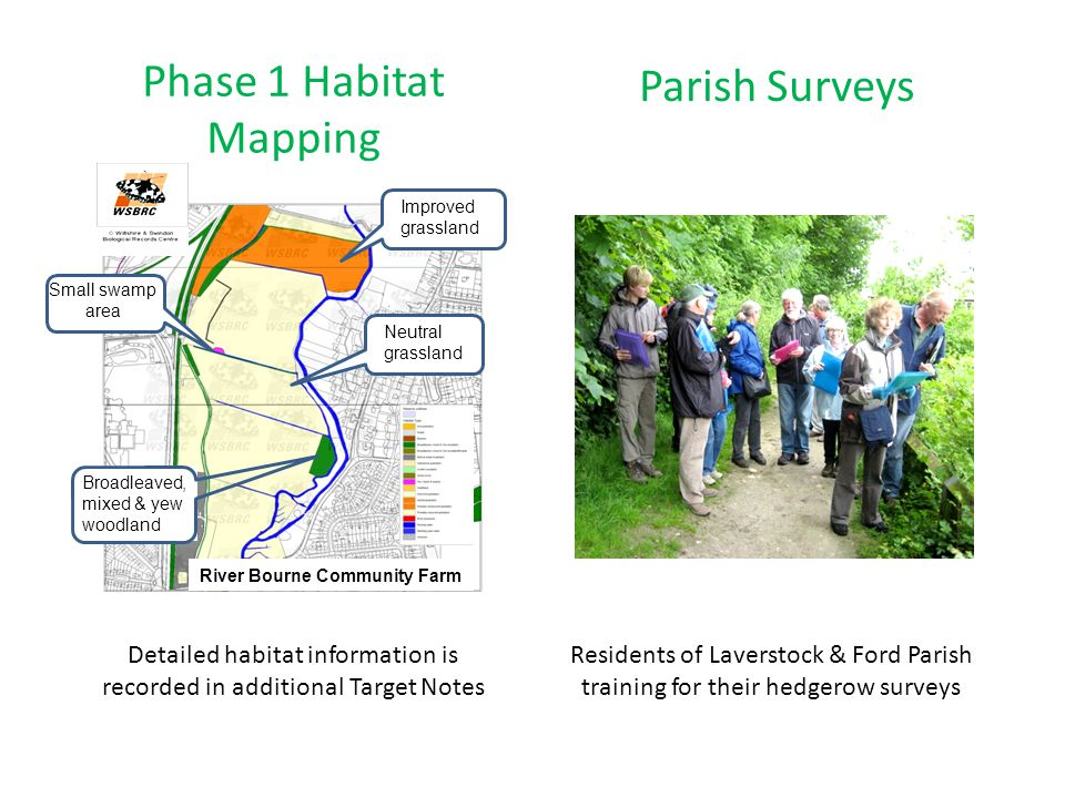 Phase 1 Habitat Parish Surveys Mapping Detailed habitat information is