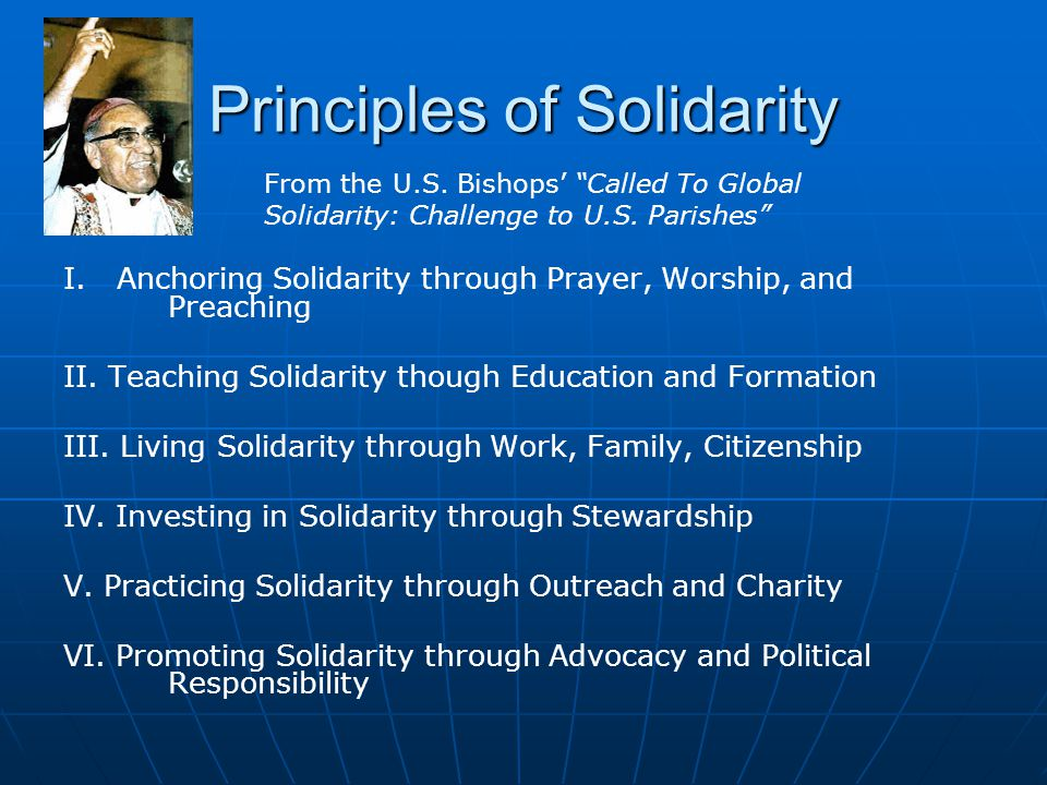 Principles of Solidarity
