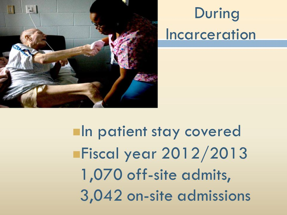 During Incarceration In patient stay covered.