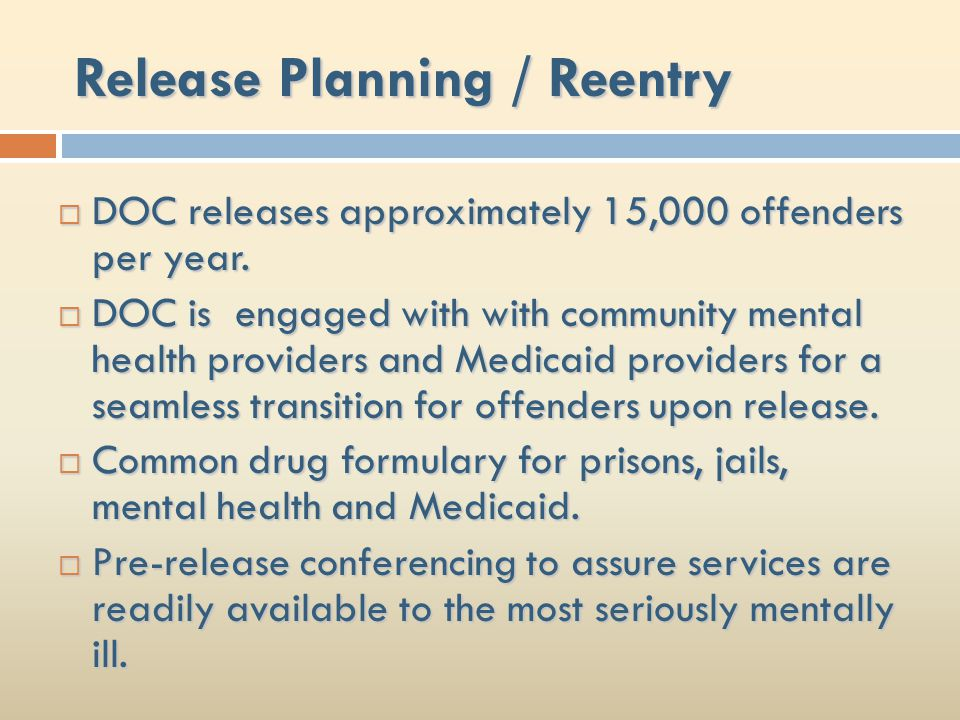 Release Planning / Reentry