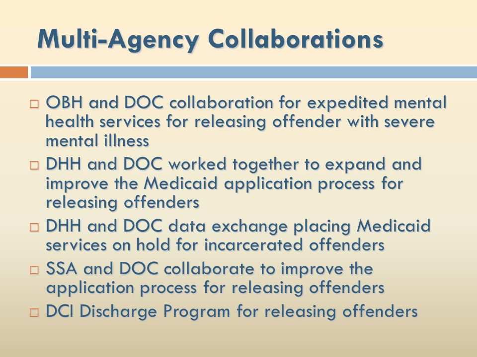 Multi-Agency Collaborations