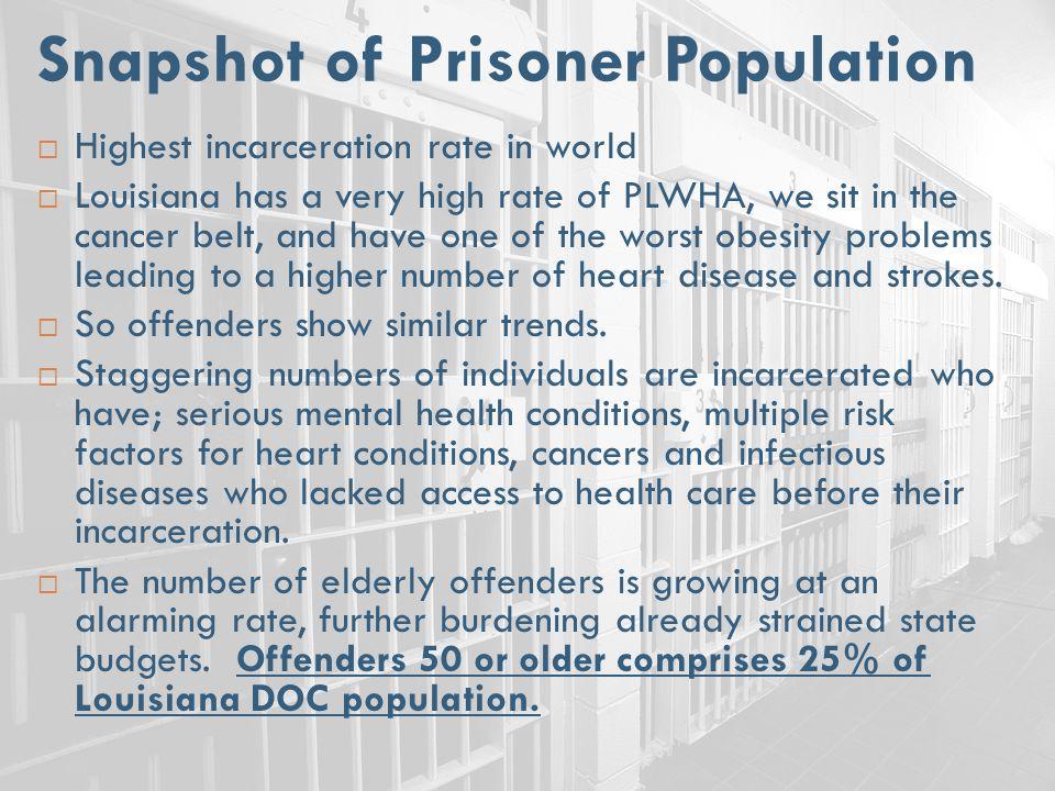 Snapshot of Prisoner Population