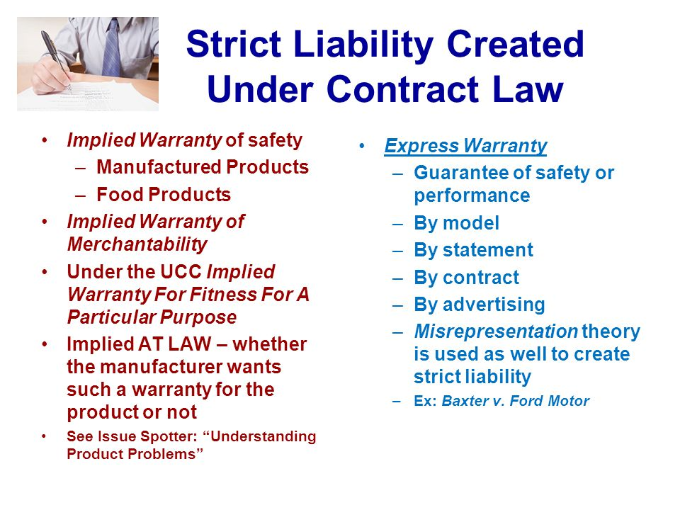 Strict Liability Created Under Contract Law