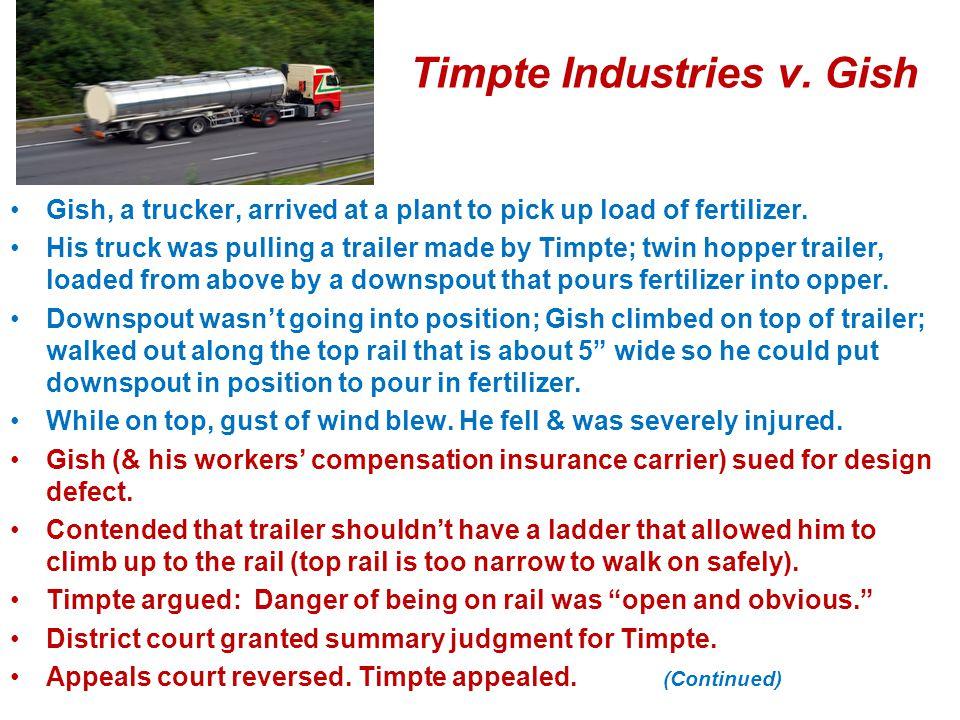 Timpte Industries v. Gish
