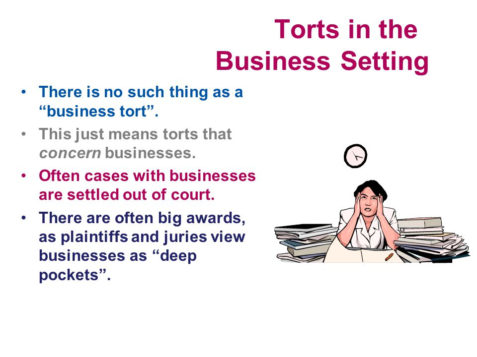 Torts in the Business Setting
