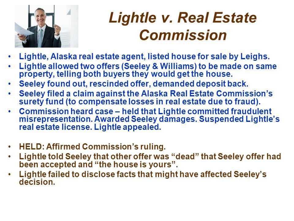Lightle v. Real Estate Commission