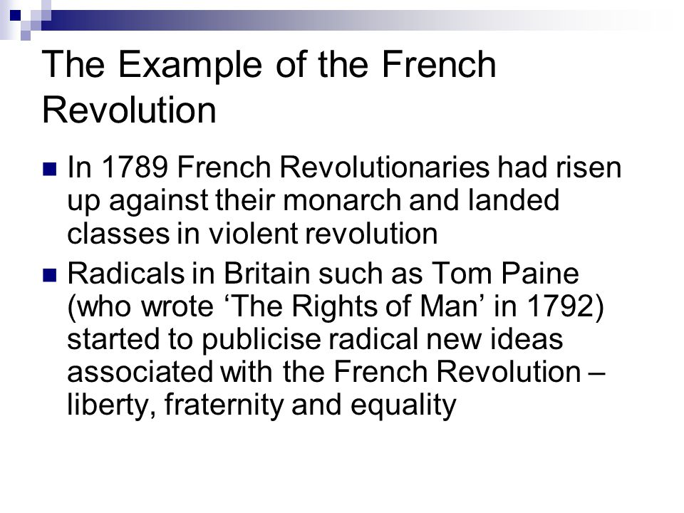 The Example of the French Revolution