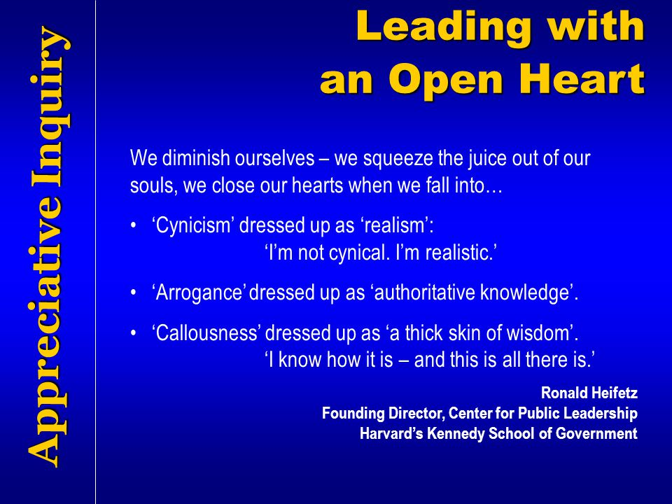 Leading with an Open Heart