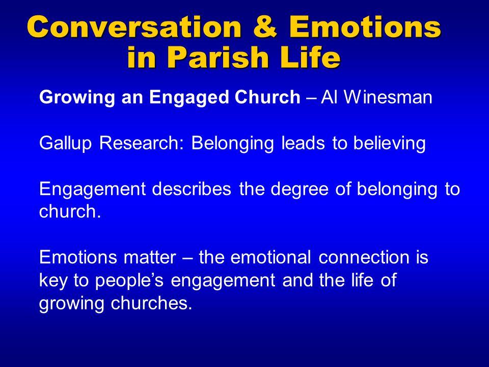 Conversation & Emotions in Parish Life