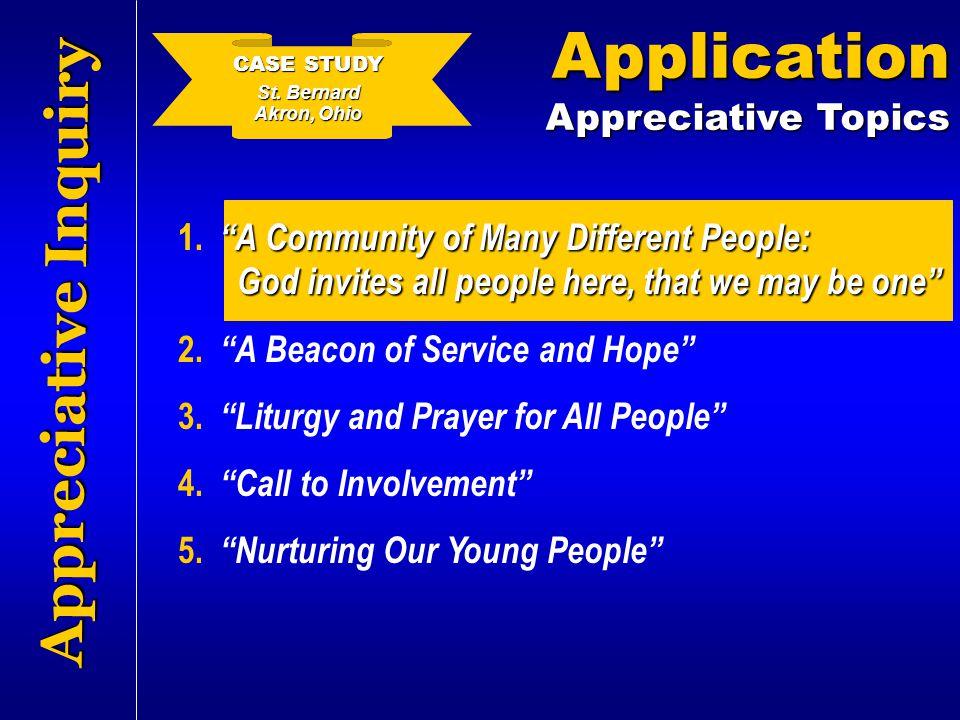 Application Appreciative Inquiry Appreciative Topics
