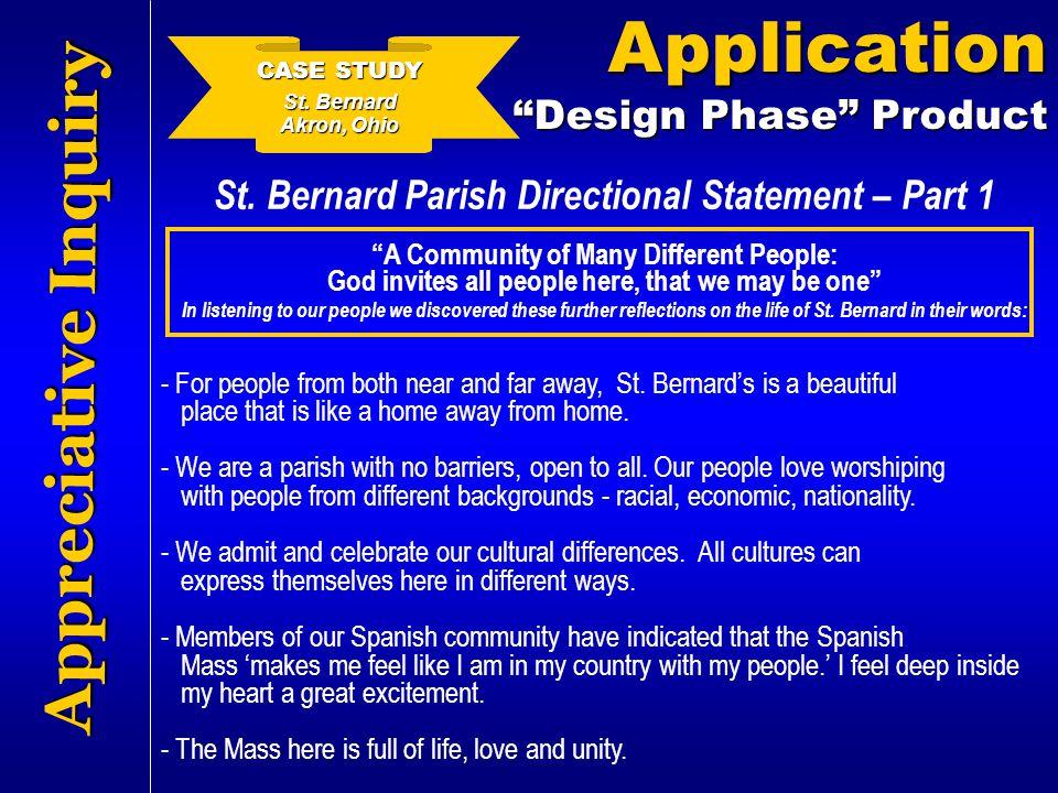 St. Bernard Parish Directional Statement – Part 1