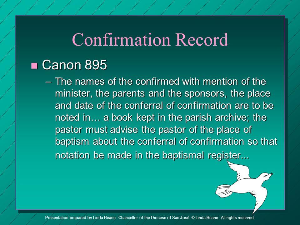 Confirmation Record Canon 895
