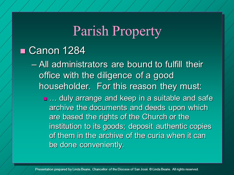 Parish Property Canon 1284.
