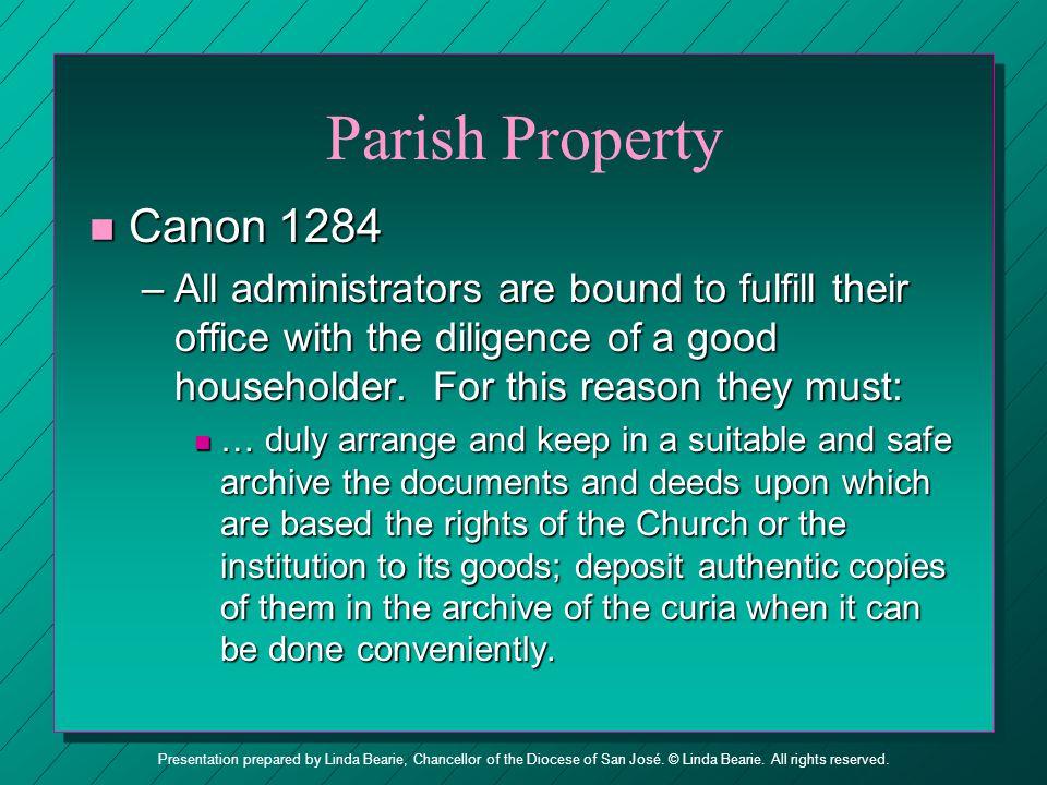 Parish Property Canon 1284.