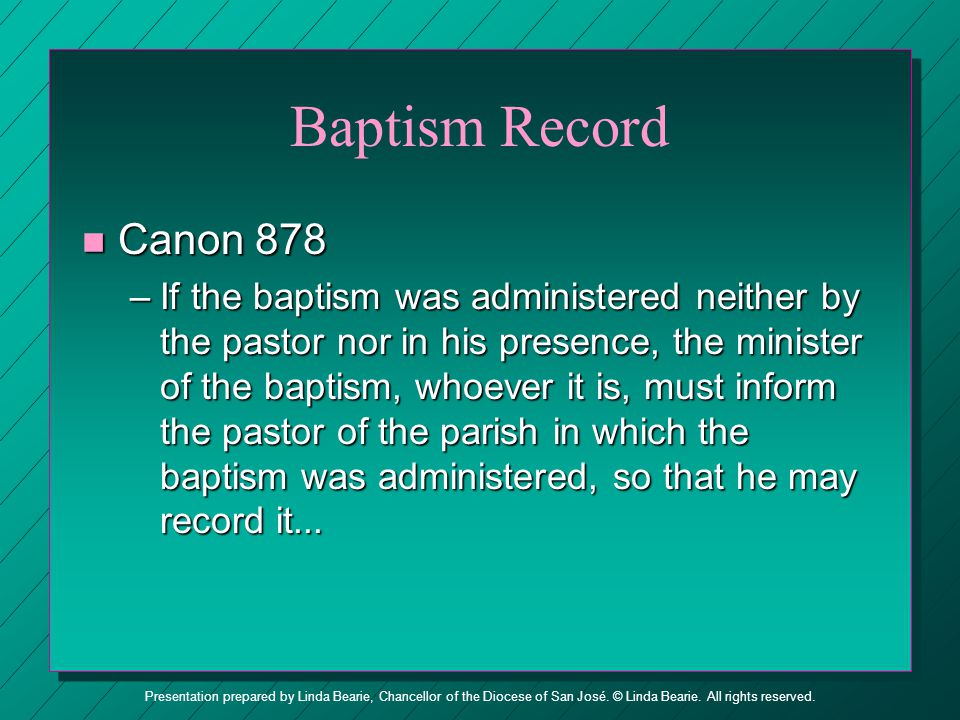 Baptism Record Canon 878.