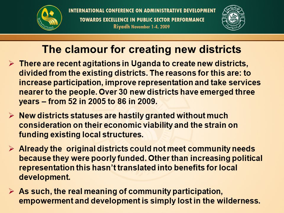 The clamour for creating new districts