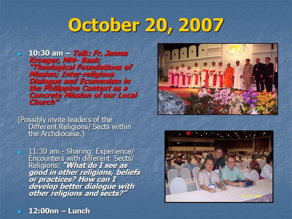 October 20, 2007