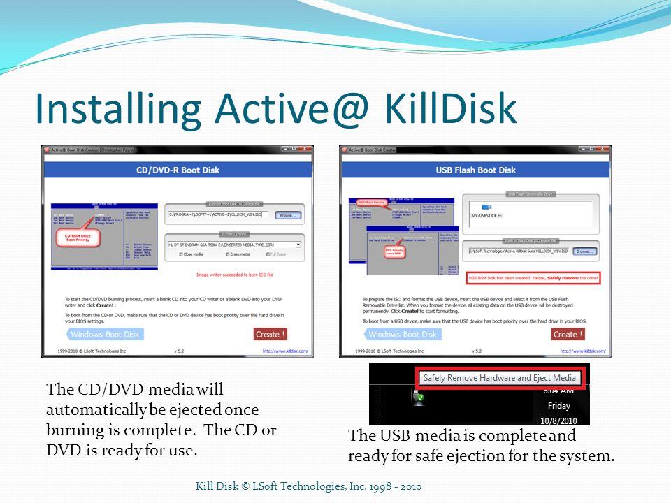 Installing Active@ KillDisk