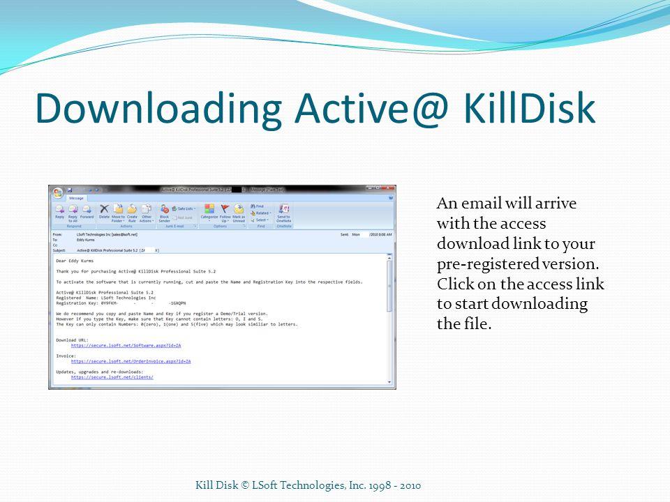 Downloading Active@ KillDisk