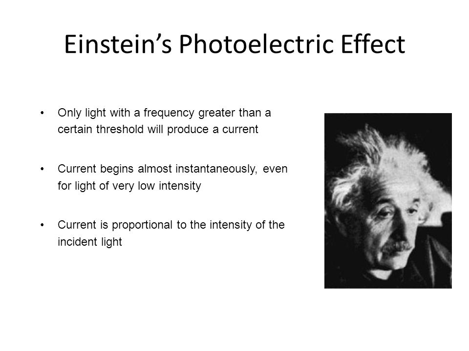 Einstein's Photoelectric Effect