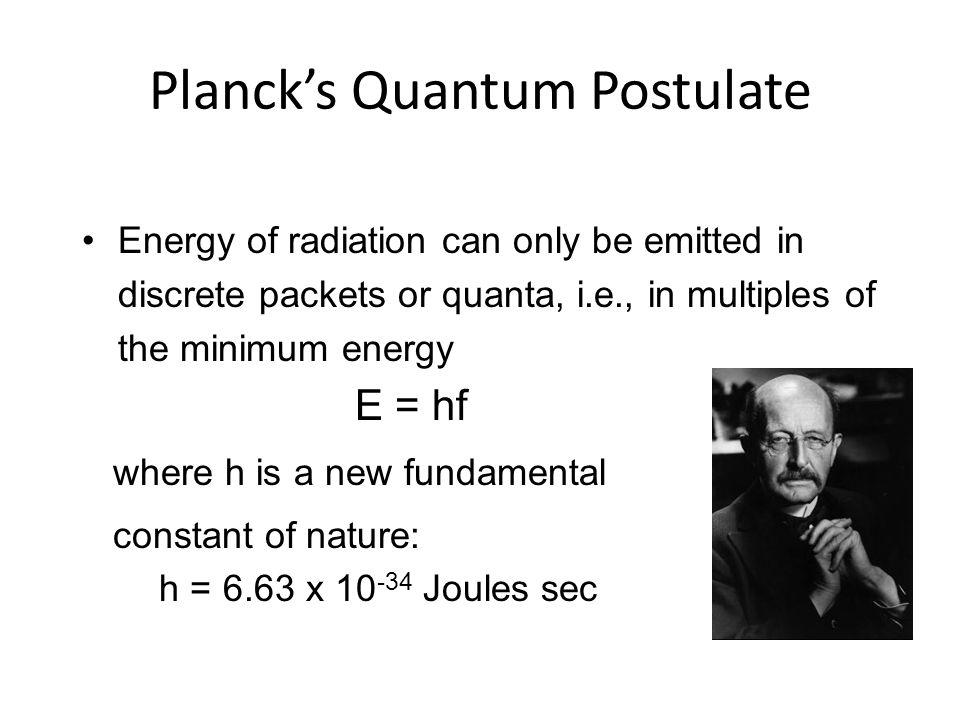 Planck's Quantum Postulate