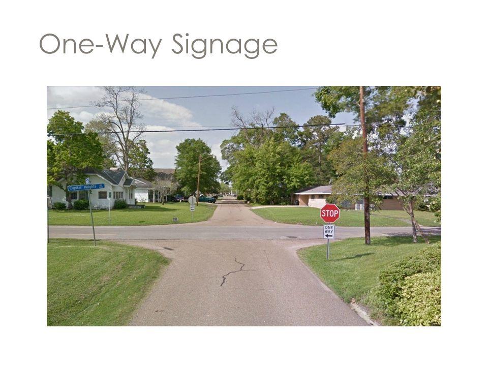 One-Way Signage