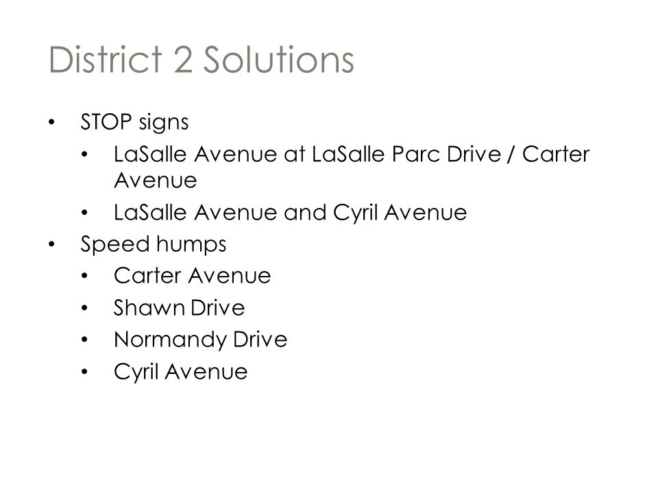 District 2 Solutions STOP signs