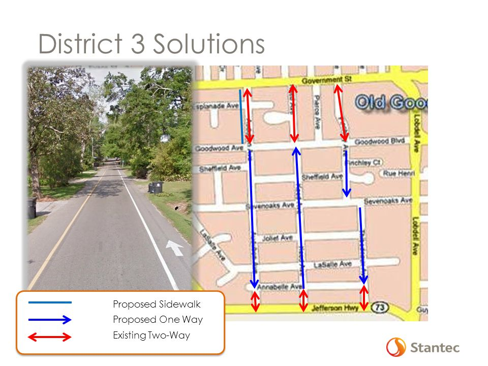District 3 Solutions Proposed Sidewalk Proposed One Way