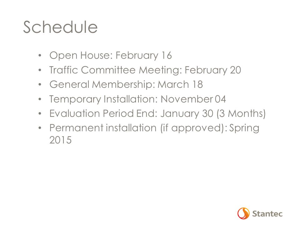 Schedule Open House: February 16