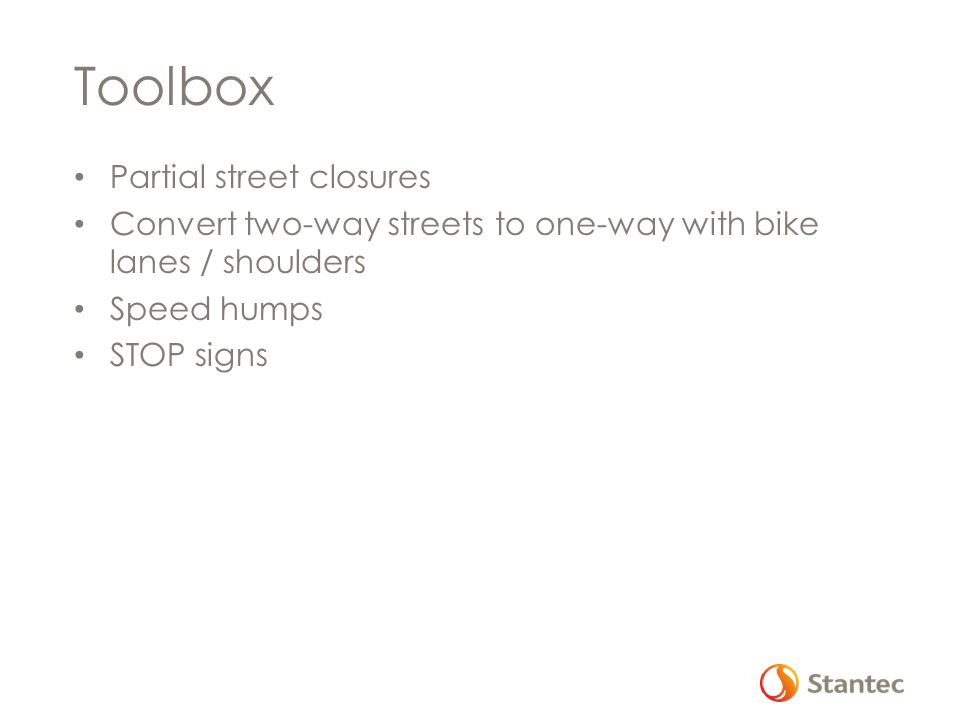 Toolbox Partial street closures