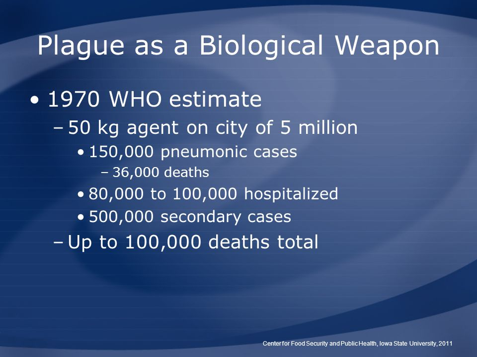 Plague as a Biological Weapon