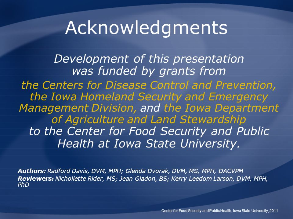 Development of this presentation was funded by grants from