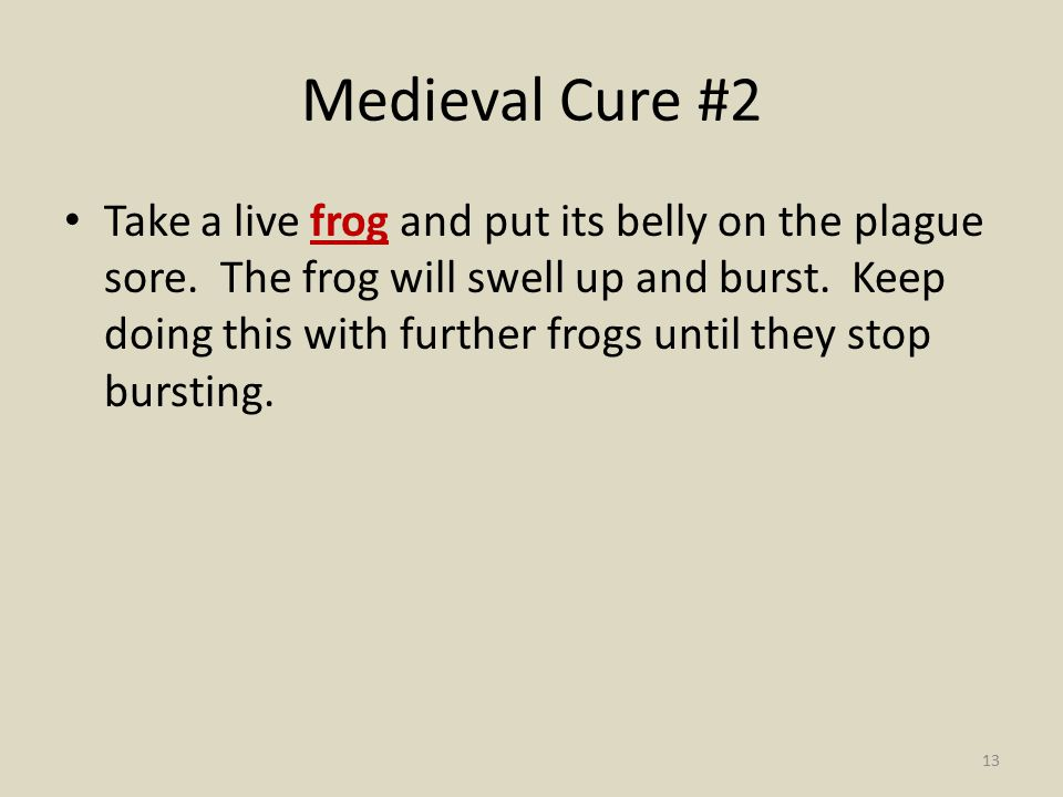 Medieval Cure #2