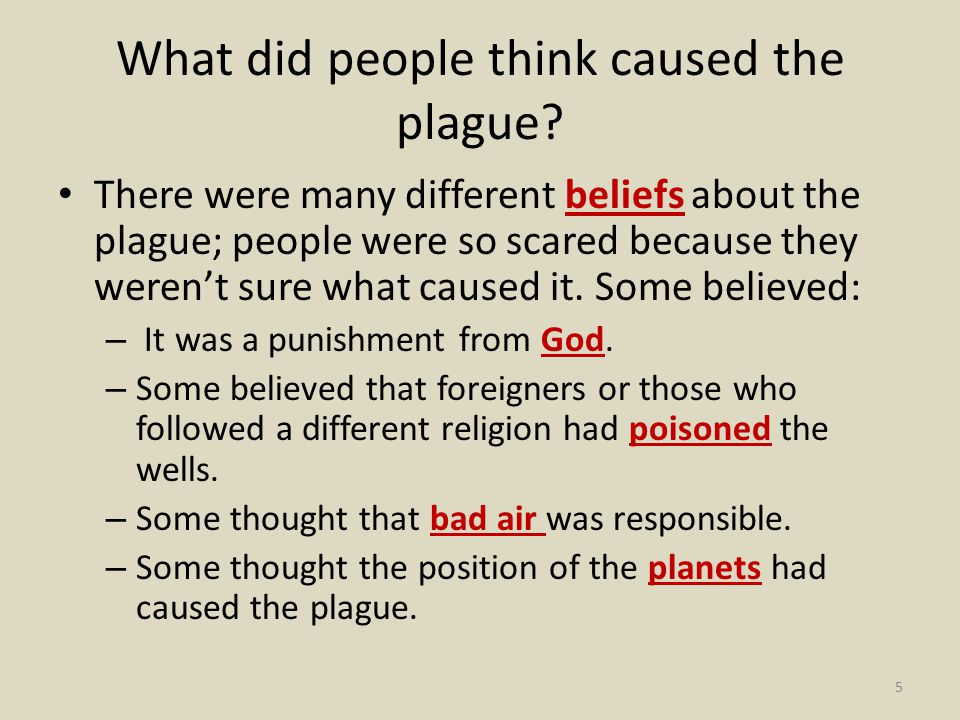 What did people think caused the plague