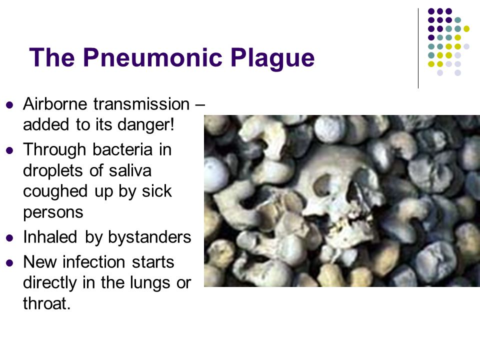 The Pneumonic Plague Airborne transmission – added to its danger!