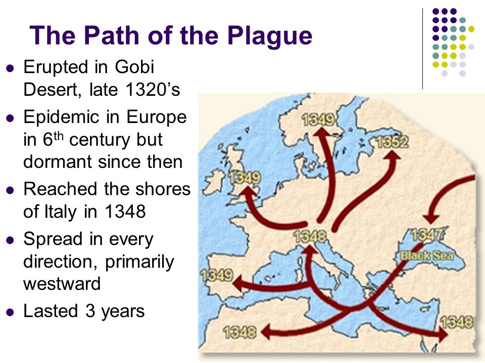 The Path of the Plague Erupted in Gobi Desert, late 1320's