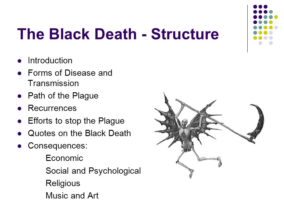 I need a thesis statement for my paper on the Black Death?