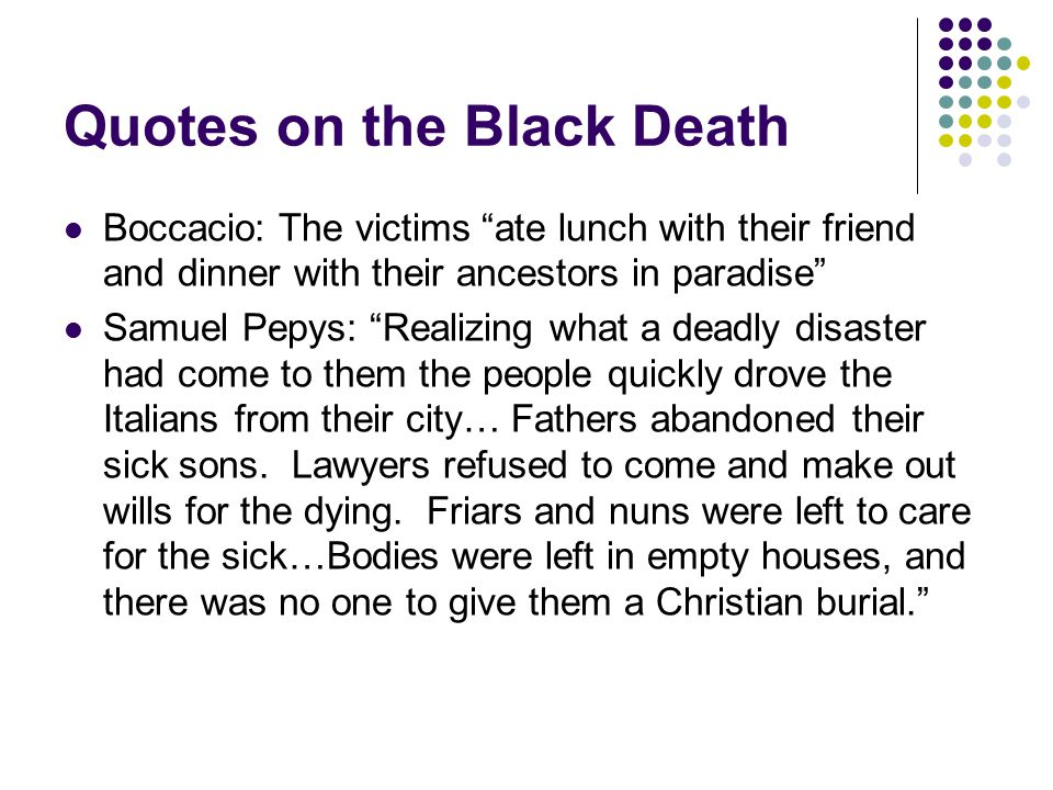 Quotes on the Black Death