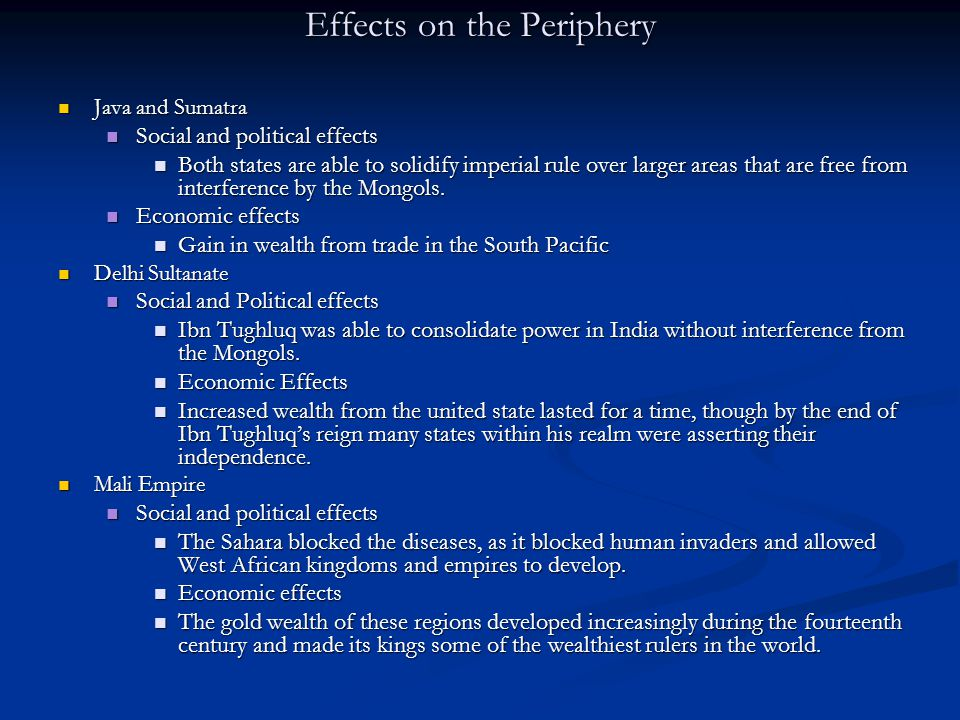 Effects on the Periphery