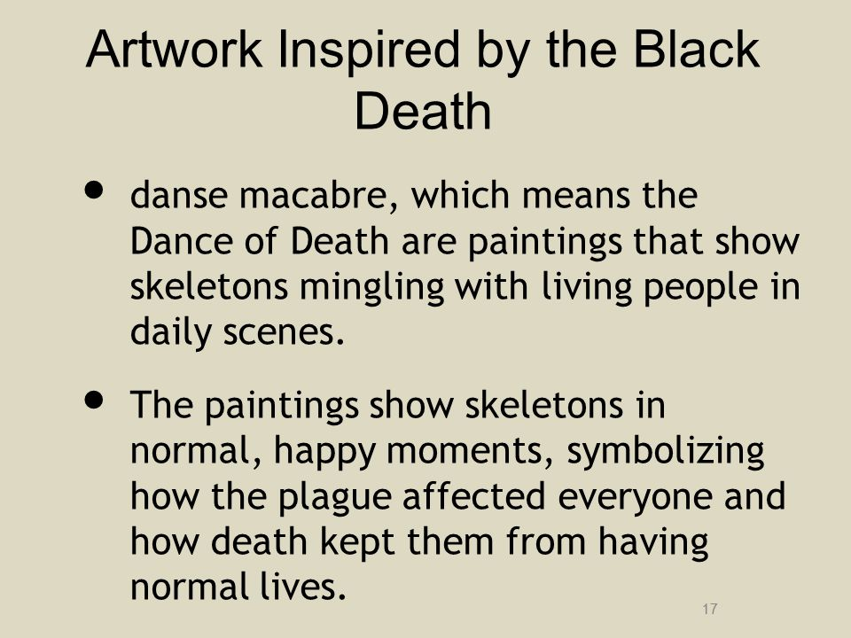 Artwork Inspired by the Black Death