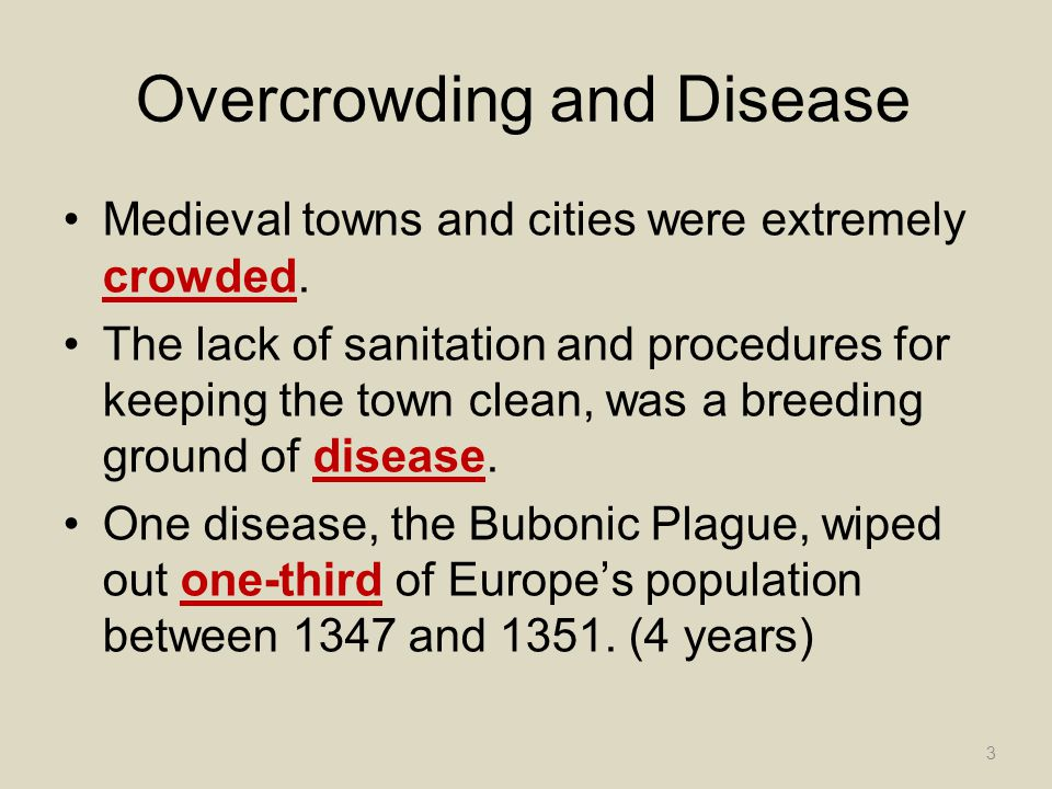 Overcrowding and Disease