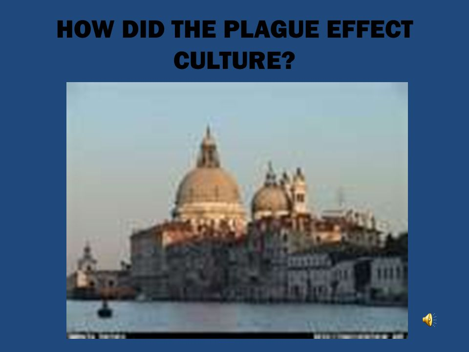 HOW DID THE PLAGUE EFFECT CULTURE