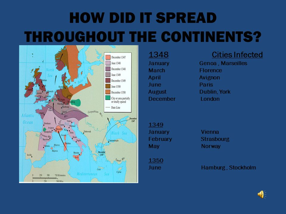 HOW DID IT SPREAD THROUGHOUT THE CONTINENTS